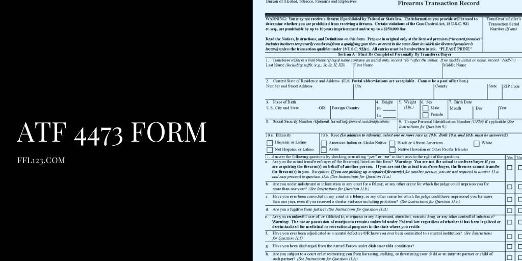 ATF 4473 Form