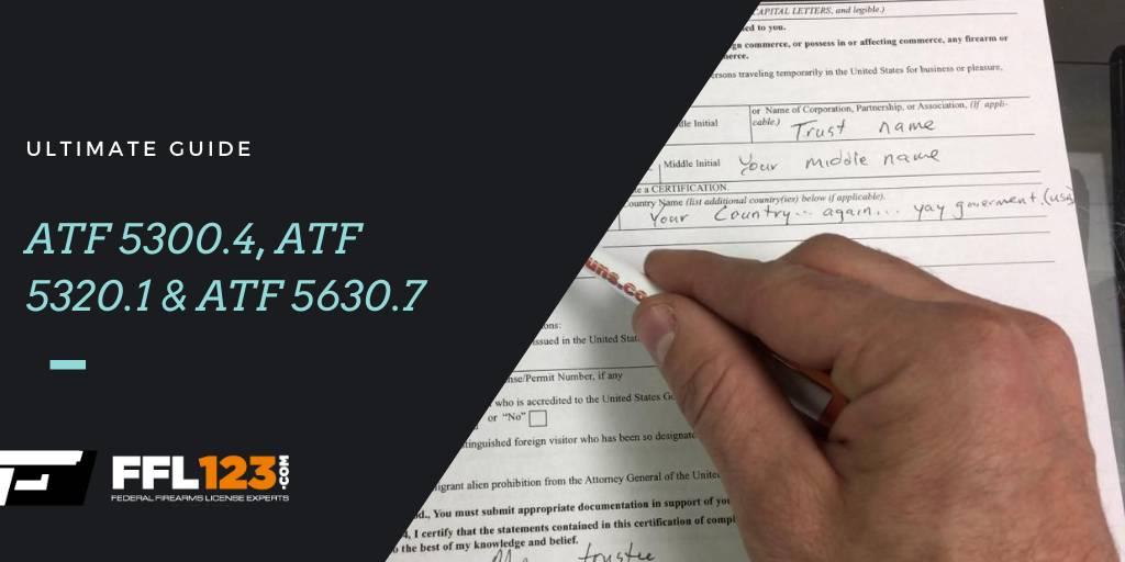 ATF 5300.4, ATF 5320.1 & ATF 5630.7